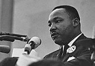 """Rev. Martin Luther King, Jr. was a recipient of the Margaret Sanger award. Mrs. King delivered her husband's acceptance speech on his behalf.    Before reading Dr. King's speech, Mrs. King declared, """"I am proud tonight to say a word in behalf of your mentor, and the person who symbolizes the ideas of this organization, Margaret Sanger. Because of her dedication, her deep convictions, and for her suffering for what she believed in, I would like to say that I am proud to be a woman tonight."""""""