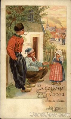 Bensdorp's Royal Dutch Cocoa, Amsterdam Advertising #NoordHolland #Volendam
