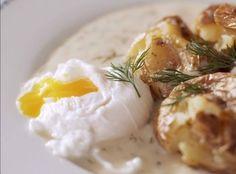 Koprovka s bramborama na bouchačku a zastřeným vejcem