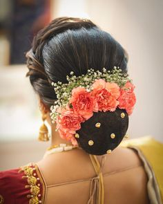 Latest Hairstyles For The Stunning Bride! Bridal Hairstyle Indian Wedding, South Indian Bride Hairstyle, Bridal Hair Buns, Bridal Hairdo, Hairdo Wedding, Indian Bun Hairstyles, Saree Hairstyles, My Hairstyle, Latest Hairstyles