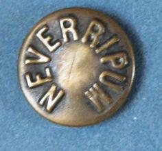 Bb  NEVERIPUM Antique textured Brass OVERALL BUTTON Wobble shank