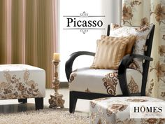 A day needs to begin with super bright ideas. Deck up your home with contrasting shades in hues of gold and browns. Attract attention, all day! Explore more @ www.homesfurnishings.com #HomesFurnishings #Upholstery #Curtains #HomeDecor #HomeInterior