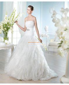 Robe de marie 2014 bustier avec ceinture perl organza