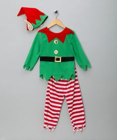 Does your little lad have a curious ability to craft seven billion gifts in only one year? Yup, we thought as much - so we're pleased to inform you that your child is an elf! But before you ship him off to the North Pole, kit him out with this top, trousers and hat, and make sure he's dressed for the job!Includes top, trousers & hatPolyester