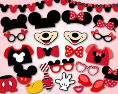 Instant Download Mickey Mouse Photo Booth Props por OneStopDigital