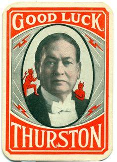 Harry (not  Howard) Thurston throwing card