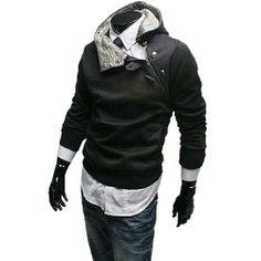 Hoher Kragen Kapuzenpullover mit schrägem Reißverschluss Sweatshirt SlimFit Pulli Fashion Season, http://www.amazon.de/dp/B00HIYY25A/ref=cm_sw_r_pi_dp_E.xhtb1PQYXC9