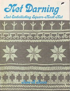 lace net darning | title net darning description and embelishing square mesh net done by ...
