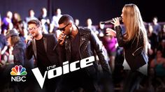 "Usher, Bria Kelly and Josh Kaufman: "" Always on the Run"" (The Voice High..."