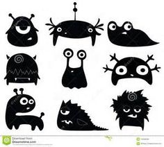 cute monster silhouette - Bing Images