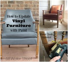 58 Water Street: How to Update A Vintage Vinyl Chair With Paint