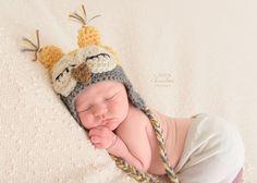 Newborn Hat, Infant Hat, Crochet Baby Owl Hat, Baby Girl Hat, Newborn Owl Hat, Photo Prop, Baby Boy Owl Hat, Crochet Baby Hat, Sleepy Owl by Monarchdancer on Etsy https://www.etsy.com/listing/219570978/newborn-hat-infant-hat-crochet-baby-owl