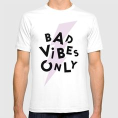 Bad Vibes Only by Anna Dorfman  @society6 #tee #tshirt #fashion #style #women #men #funny #goodvibesonly #badvibesonly #bad #good #vibes #only #products #products #chic #fashion #style #gift #idea #society6 #design #shop #shopping #buy #sale #fun #accessory #accessories #art #contemporary #cool #hip #awesome  #sweet