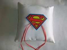 Superman Ring Bearer Pillow - Superhero Wedding - ericabstudios Etsy Shop. $29