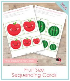 FREE FRUIT SIZE SEQUENCING CARDS