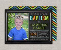 LDS Baptism Invitation  Chalkboard by announcingyou on Etsy, $15.00