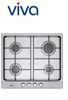 Table gaz - inox - 60cm - couleur : acier inox | Matériau de base de la surface : acier inox