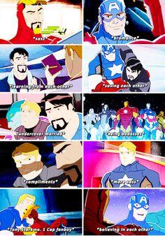 "Steve & Tony in ""Avengers Assemble"": a summary"