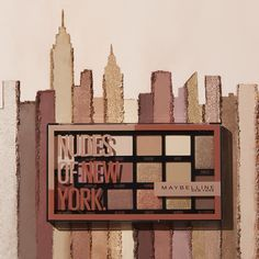 Enhance your eye look instantly with the Nudes of New York Eyeshadow Palette, the new creamy universal eyeshadow palette from Maybelline. 16 universal eyeshadow shades from one perfect palette, made to flatter all. Neutral Eyeshadow, Eyeshadow Palette, Makeup Inspo, Beauty Makeup, Makeup Tips, New York Logo, Marvel, Tabata, Makeup Cosmetics