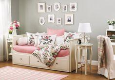 Brilliant IKEA Hemnes Daybed Designs : Fantastic IKEA Hemnes Daybed Designs With Pink Bedding