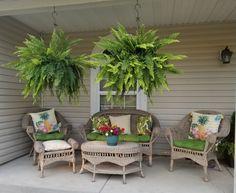 Back Porches, Small Porches, Back Patio, Porch Furniture, Outdoor Furniture Sets, Outdoor Rooms, Outdoor Decor, Kitchen Ornaments, Barbacoa