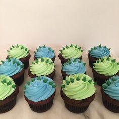 Dinasour Birthday, Dinosaur First Birthday, Baby Boy 1st Birthday, 3rd Birthday Parties, Birthday Ideas, Boy Birthday Cupcakes, 3rd Birthday Party For Boy, Dinosaur Cupcakes, Dinosaur Party