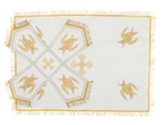 White chalice covers, $98.00, catalog of St Elisabeth Convent. #chalice #veil #buy