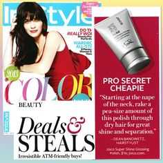 Dean Banowitz gives InStyle his tip on creating shine and separation with Joico's Super Shine Glossing Polish.