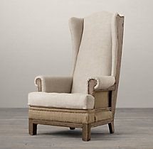Deconstructed Highback Wing Chair  so cozy to curl up and read a book.