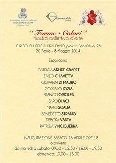 """""""FORME E COLORI"""" Mostra Collettiva D'Arte info@tresjolieventi.it"""