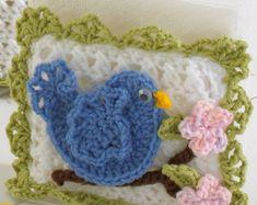 Crochet Pattern PDF Ginger Bread Kitchen Set | Etsy Chicken Crochet Potholder, Crochet Potholders, Crochet Blocks, Crochet Patterns, Crochet Blankets, Rick Rack, Poinsettia, Bread Kitchen, Crochet Kitchen