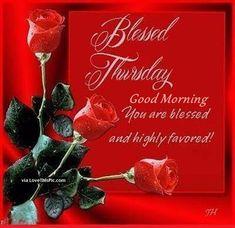 Blessed Thursday Good Morning