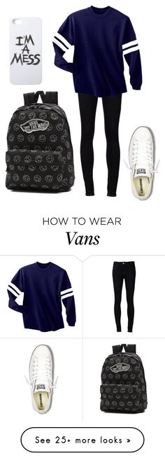 """Untitled #81"" by music-is-bea on Polyvore featuring Ström, Converse, Vans and LAUREN MOSHI"