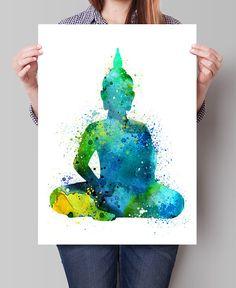 Aquarelle de Bouddha, Bouddha peinture, Yoga Art Print, Bouddha Print Art, sticker Bouddha photographie, Yoga Poster, Poster Bouddha - Art, Art pariétal, Home Decor, Art Print, affiche, Illustration, dessin, peinture, aquarelle, oeuvre, FineArtCenter ------------------------------------------------------------------------------------------------ Tailles disponibles sont indiqués dans la sélectionner une taille liste déroulante au-dessus du bouton Ajouter au panier…
