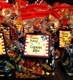 Pirate birthday party favors, Milo decided he wants a pirate birthday this year!