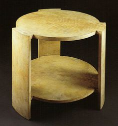 Marcel Coard, parchment-covered wood, with conforming glass top 25 3/4 in. (65.4 cm) high 31 1/2 in. (80 cm) diameter ca. 1930