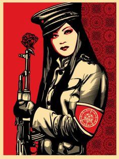 """Shepard Fairey """"Obey""""."""
