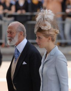 Lady Gabriella Windsor and Prince Michael of Kent, Queen Elizabeth's cousin.