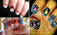 Very cool! > Geek video game nails