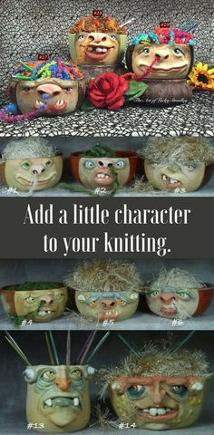 Be the coolest person in your knitting group. These are great, handcrafted knitting bowls. #ad #knittingaddict #knittingbowl #crafterscompanion