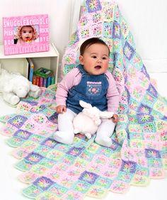 Rainbow Swirl Baby Blanket #redheartyarns