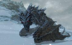 Skyrim is one of the most beloved video games ever made. Yeah, major Elder Scrolls purists may bemoan its mainstream sensibilities and gen. Elder Scrolls Skyrim, The Elder Scrolls, Fantasy Creatures, Mythical Creatures, Skyrim Tattoo, Skyrim Dragon, Dark Brotherhood, Shadow Of The Colossus, Nerd Art