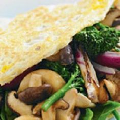 Asian Vegetable Omelette -- Use these timesaving tips to whip up a tasty and nutritious meal in 20 minutes or less. Quick Healthy Meals, Quick Recipes, Nutritious Meals, Asian Vegetables, Omelette Recipe, Cooking Tips, Meal Prep, Tasty, Favorite Recipes