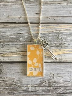 Grateful Necklace by WildRoseMN on Etsy