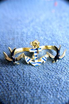 Anchors Away Double Ring from Trinkettes