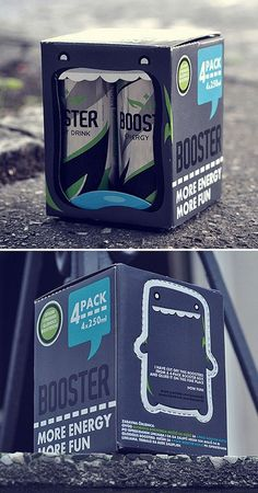 BOOSTER ENERGY DRINK #packaging AM