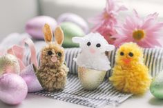 How to Make Animals Out of Pom Poms. From classic farm animals to exotic jungle creatures, it's amazing the types of critters you can create out of pom poms. Whether you give them as gifts or use them for festive decor, they add instant charm and whimsy to every occasion. As a symbol of springtime, the bunny, lamb and chick make a delightful...