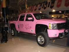 Taylor swifts pink truck... need this.