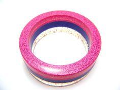 royal confetti mix resin bangle set magenta by baubleheadz
