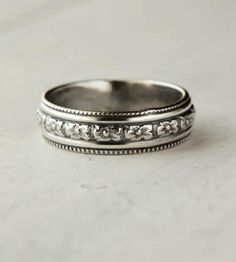 Floral Sterling Silver Band / by 36ten